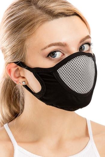 Wholesale Unisex Multi Layer Fabric Mesh Comfort Face Mask
