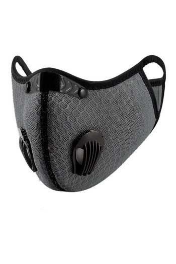 Wholesale Charcoal Dual Valve Mesh Sport Face Mask with Activated Carbon Filter