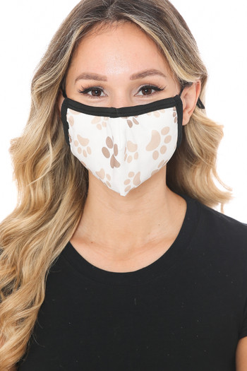 Wholesale Pretty Paws Graphic Print Face Mask