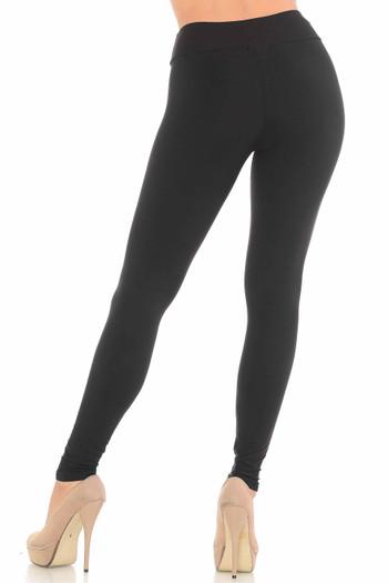 Wholesale Brushed Black Sport Leggings