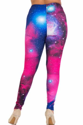 Wholesale Creamy Soft Fuchsia Galaxy Extra Plus Size Leggings - 3X-5X - USA Fashion™