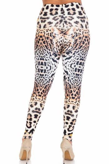 Wholesale Creamy Soft Leopard Star Plus Size Leggings - USA Fashion™