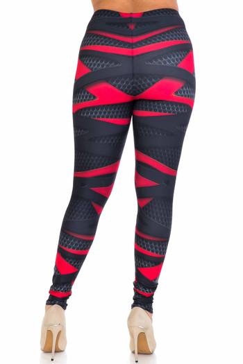 Wholesale Creamy Soft Cascading 3D Sport Wrap Plus Size Leggings - USA Fashion™