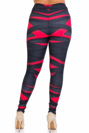 Wholesale Creamy Soft Cascading 3D Sport Wrap Extra Plus Size Leggings - 3X-5X - USA Fashion™