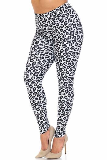 Wholesale Creamy Soft Urban Leopard Extra Plus Size Leggings - 3X-5X - USA Fashion™