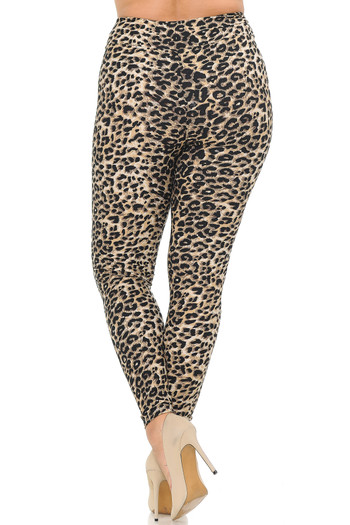 Wholesale Buttery Soft Feral Cheetah Plus Size High Waisted Leggings
