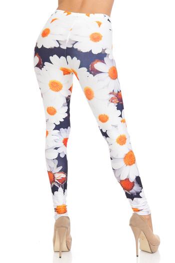 Wholesale Creamy Soft Daisy Bunch Plus Size Leggings - USA Fashion™
