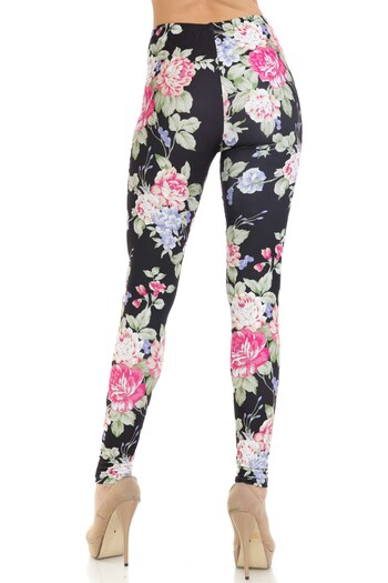 Wholesale Creamy Soft Delightful Rose Leggings - USA Fashion™