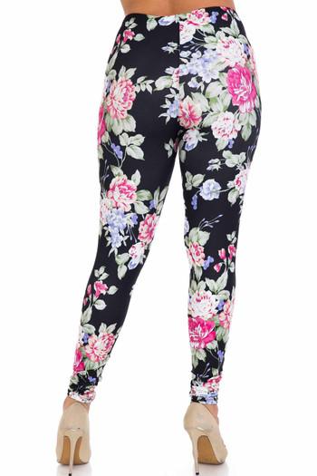 Wholesale Creamy Soft Delightful Rose Plus Size Leggings - USA Fashion™