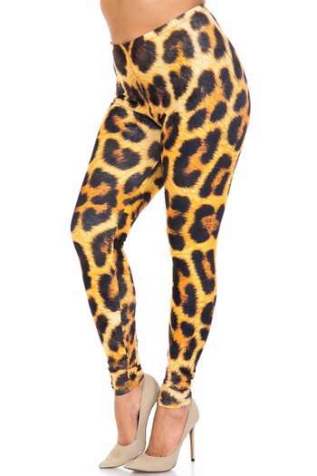 Wholesale Creamy Soft Spotted Panther Extra Plus Size Leggings - 3X-5X - USA Fashion™