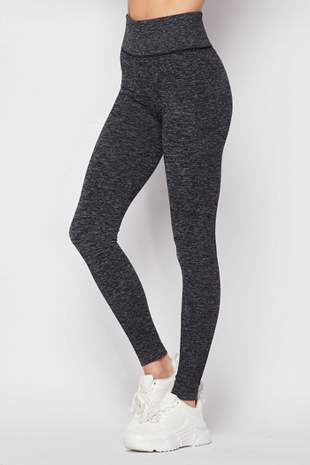 Charcoal Wholesale Premium Comfort Body Wrapped High Waist Workout Leggings