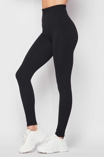 Black Wholesale Premium Comfort Body Wrapped High Waist Workout Leggings