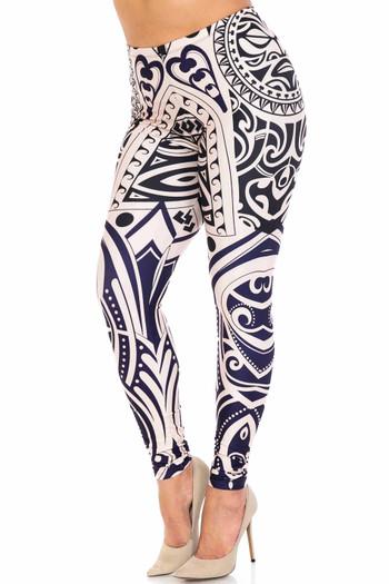 Wholesale Creamy Soft Valhalla Plus Size Leggings - USA Fashion™
