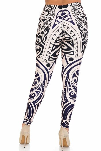 Wholesale Creamy Soft Valhalla Extra Plus Size Leggings - 3X-5X - USA Fashion™