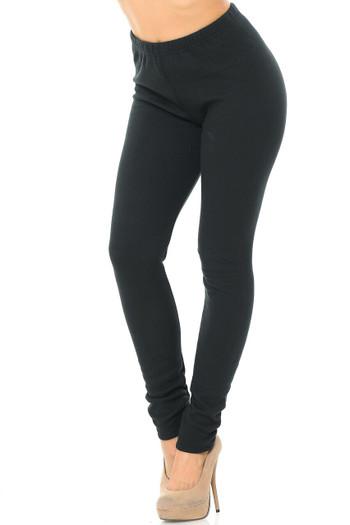 Wholesale Luxury Creamy Soft Fleece Lined Plus Size Leggings - USA Fashion™