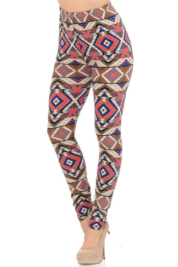 Wholesale Buttery Soft Inflection Tribal Leggings