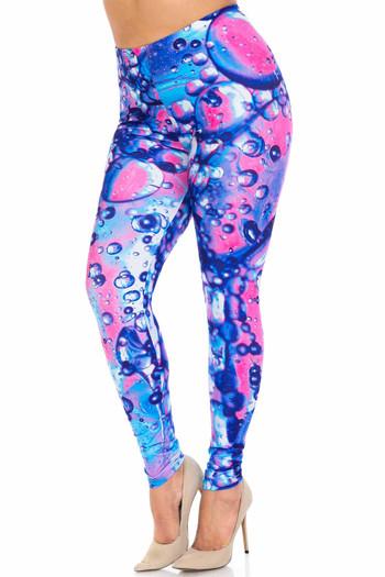 Wholesale Creamy Soft Brilliant Bubbles Plus Size Leggings - USA Fashion™