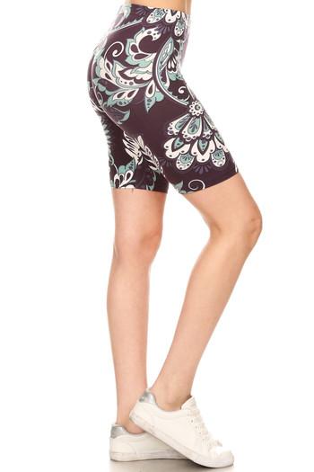 Wholesale Buttery Soft Indigo Paisley Shorts