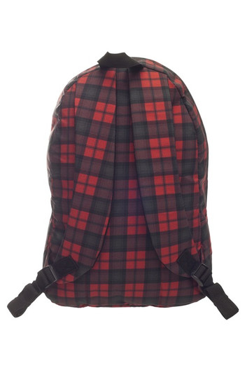 Wholesale Black and Red Plaid Graphic Print Backpack