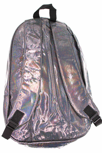 Wholesale Shiny Silver Rainbow Glitter Metallic Backpack