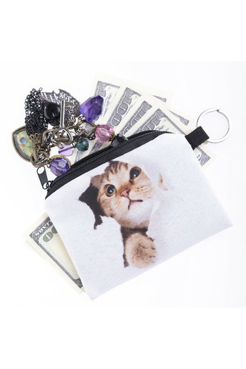 Wholesale Rectangular Graphic Print Coin Purse - 18 Styles