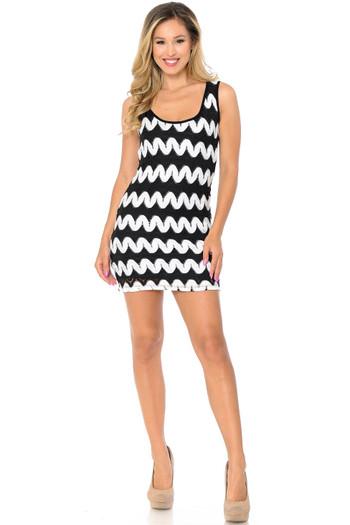 Wholesale Sassy Chevron Summer Mini Dress