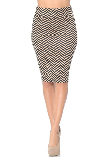 Wholesale Herringbone Pencil Skirt