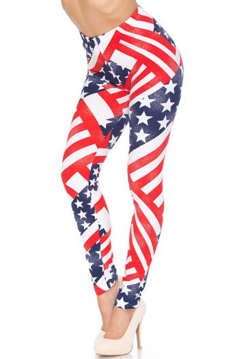 Wholesale Patriot USA Flag Leggings