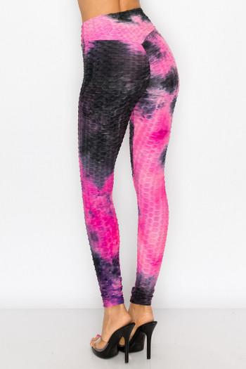 Wholesale Colorful Tie Dye Scrunch Butt High Waisted Sport Leggings