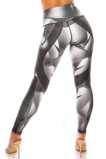 Wholesale Steel Geo Wrap High Waisted Sport Leggings