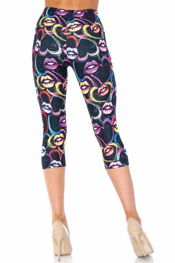 Wholesale Creamy Soft Colorful Lips and Hearts Capris - USA Fashion™