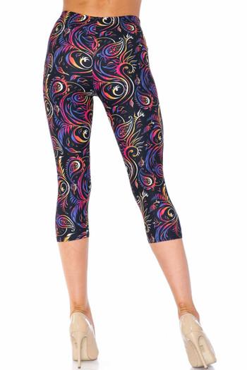Wholesale Creamy Soft Ombre Paisley Swirl Plus Size Capris - USA Fashion™