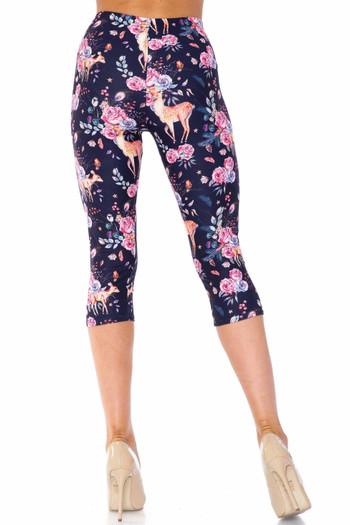 Wholesale Creamy Soft Woodland Floral Fawn Plus Size Capris - USA Fashion™