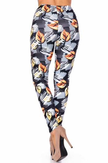 Wholesale Creamy Soft Orange Leaf Breeze Kids Leggings - USA Fashion™
