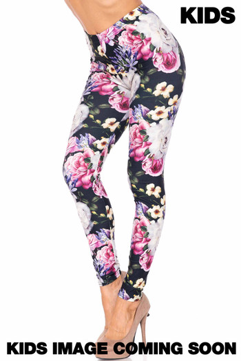 Wholesale Creamy Soft Floral Garden Bouquet Kids Leggings - USA Fashion™