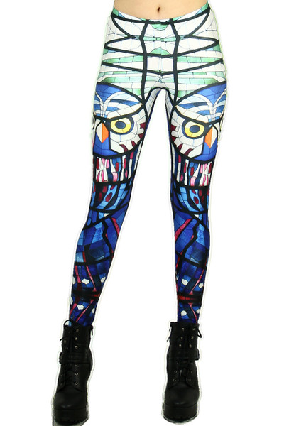 Front side image of DP-1116KDK - Wholesale Premium Graphic Leggings