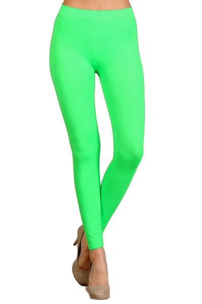 Front side image of Full Length Neon Nylon Spandex Leggings