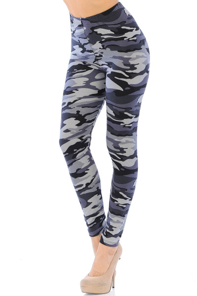 Wholesale Buttery Soft Monochrome Camouflage Leggings