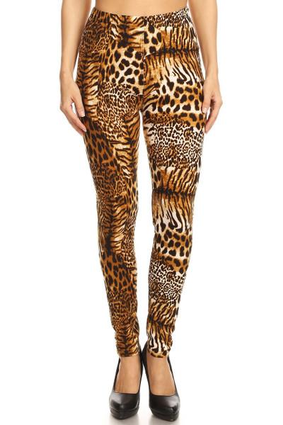 Wholesale Buttery Soft Wild Jungle Cat Leggings