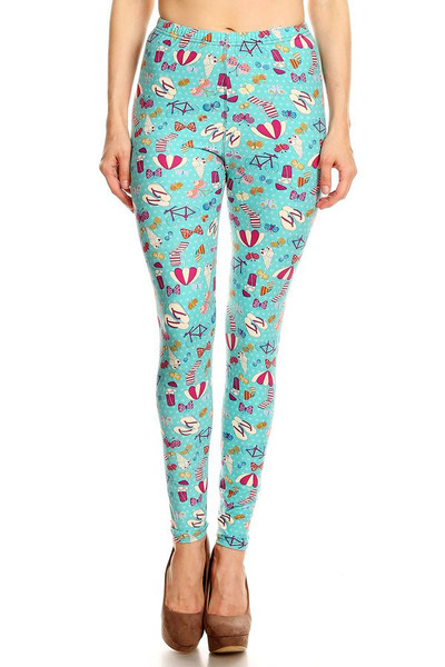 Wholesale Buttery Soft Summer Beach Party Leggings - LIMITED EDITION