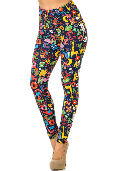 Wholesale Buttery Soft Animal Letters Leggings