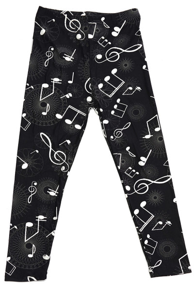 Wholesale Buttery Soft Musical Note Geometry Kids Leggings