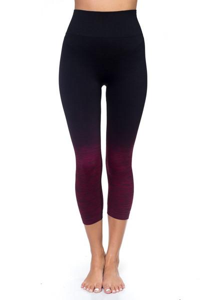 Wholesale Body Flatter Color Blend Workout Capris