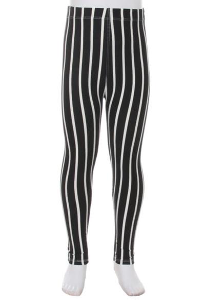 Wholesale Buttery Soft Black Pinstripe Kids Leggings