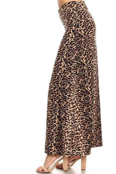 Wholesale Buttery Soft Feral Cheetah Maxi Skirt