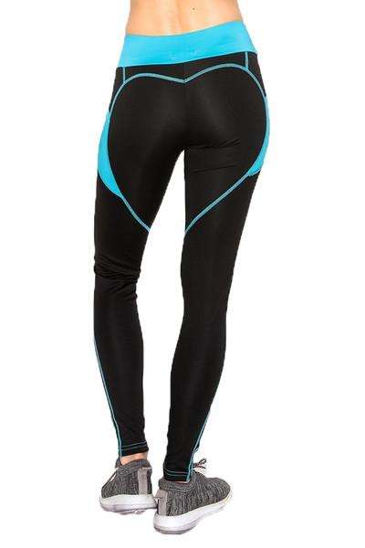 Wholesale Blue Heart Women's Workout Leggings