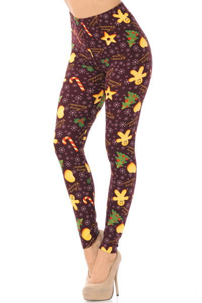 Wholesale Buttery Soft Merry Christmas Treats and Cookies Leggings