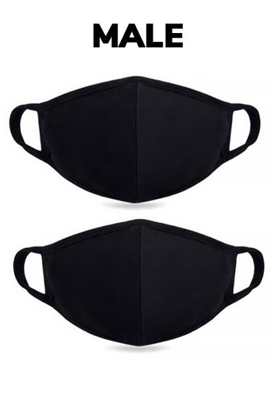 Wholesale MEN'S COTTON FACE MASK- Premium 2-PLY Cotton with PM2.5 Filter Pocket - Made in USA
