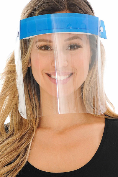 Wholesale 10 Pack - Protective Face Shield - Anti Splash Film with Adjustable Band and Comfort Sponge