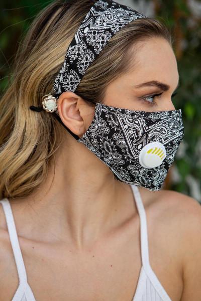 Wholesale 2 Piece Bandana Headband and Face Mask Set